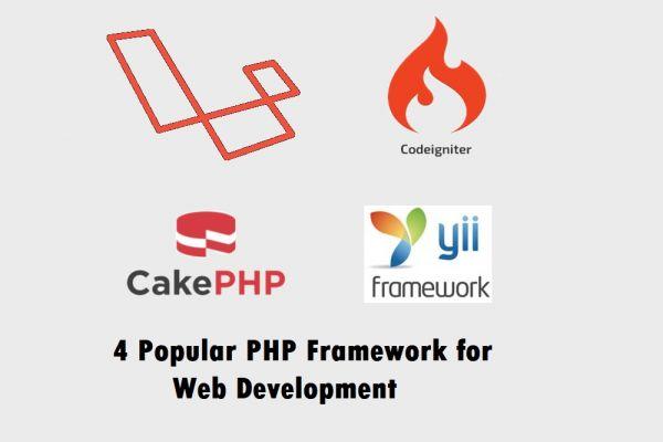 4 Popular PHP Frameworks for Web Development