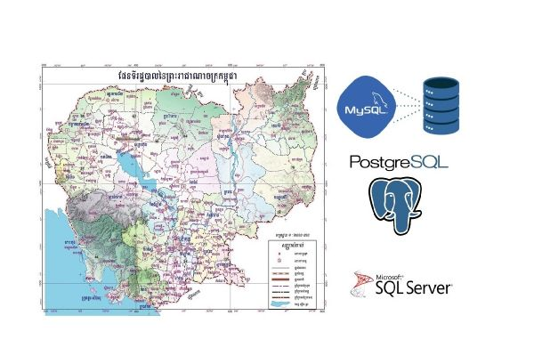 Cambodia geography database with sql for loading into your database system