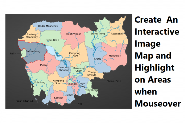 Create An Interactive Image Map and Highlight on Areas when Mouseover