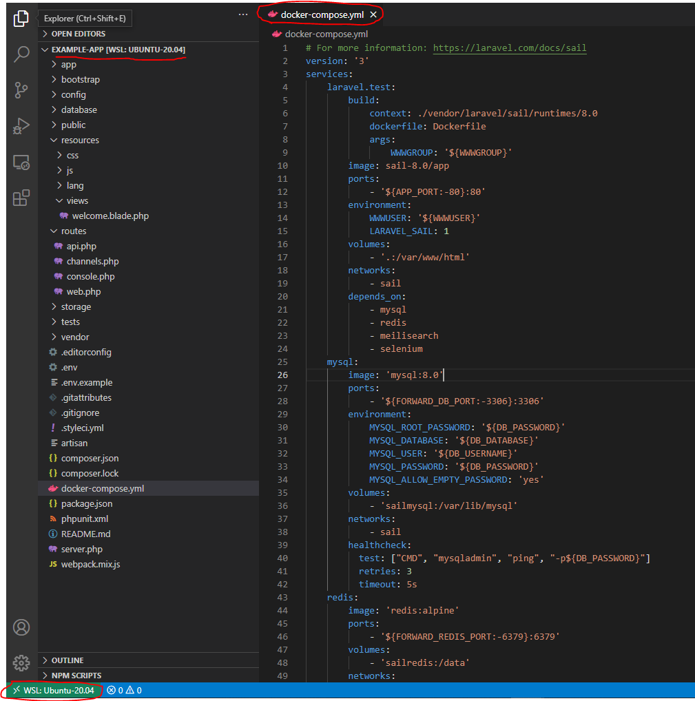 begin-new-project-with-laravel-sail-and-docker-on-window10-vscode-laravelsail