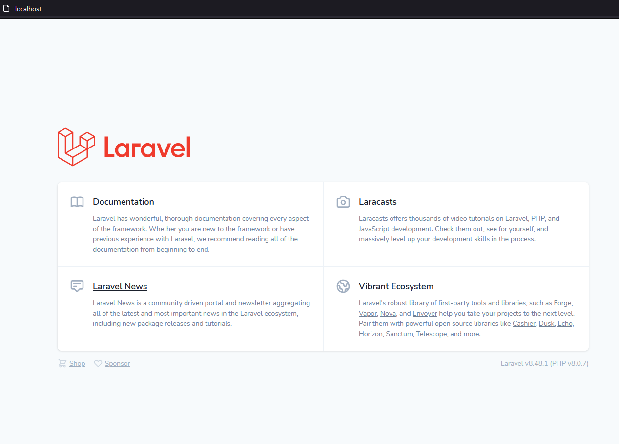 begin-new-project-with-laravel-sail-and-docker-on-window10-laravel-app-running-localhost